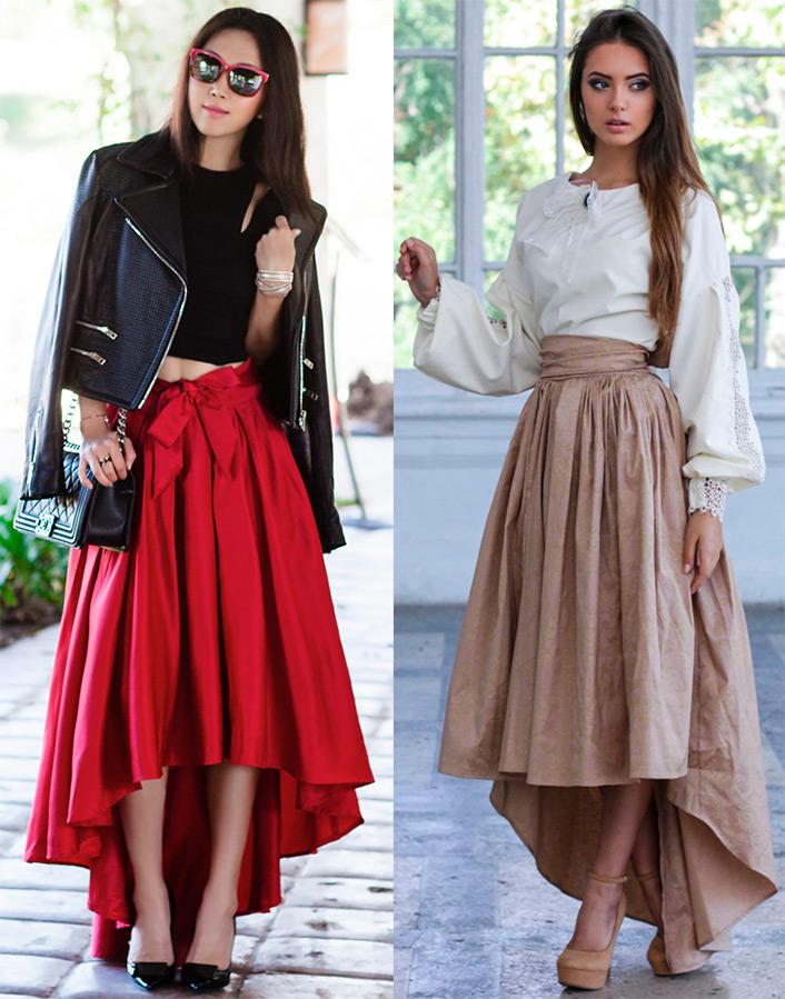 длинные юбки со шлейфом