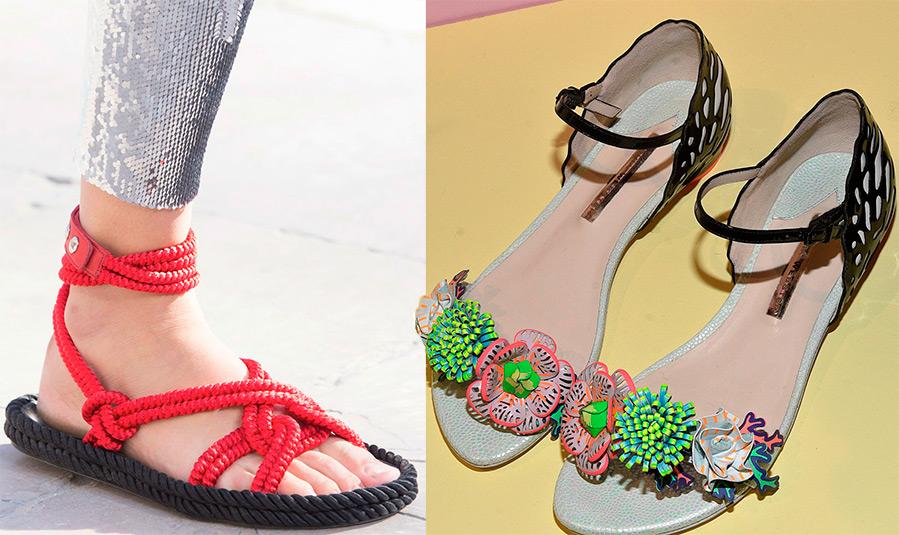 Модная женская обувь для лета