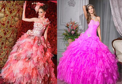 Розовое свадебное платье – лучшие модели