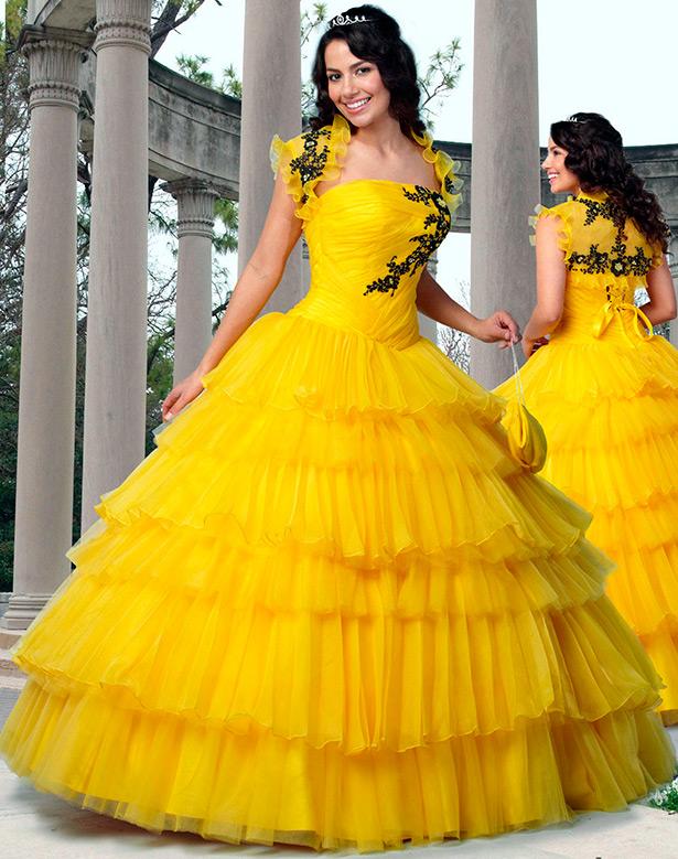 Желтый цвет свадебного платья к чему
