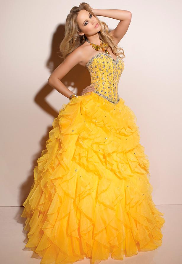 7cf861e1213 Свадебные платья желтого цвета