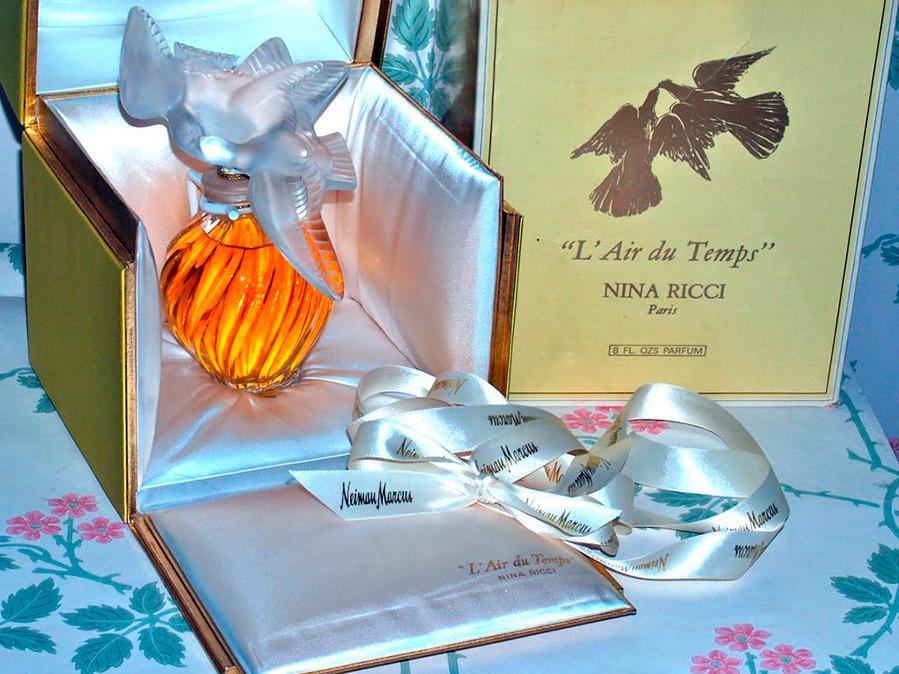 Хрустальные золотые голуби Nina Ricci