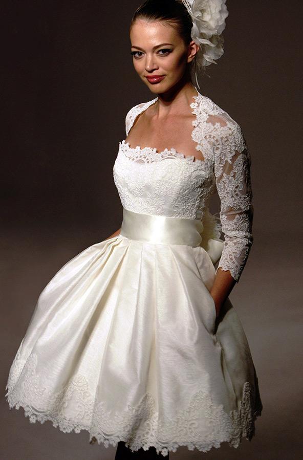 Модные свадебные платья короткие фото