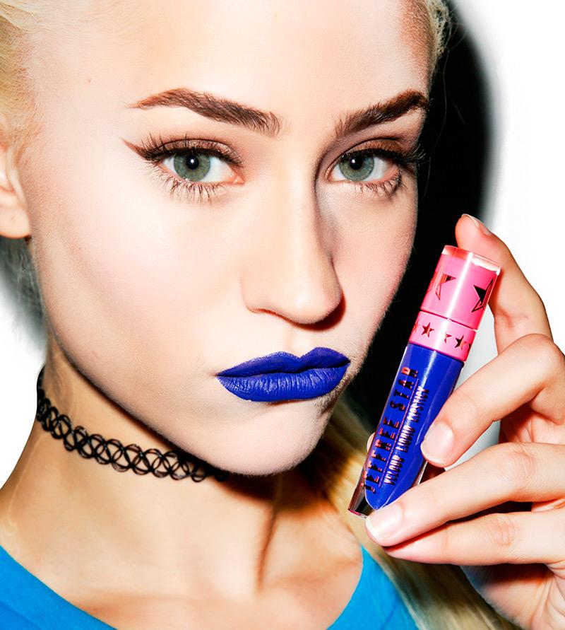 Синие оттенки помады для макияжа
