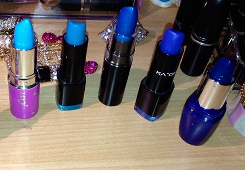 Синяя помада для смелых экспериментов с макияжем
