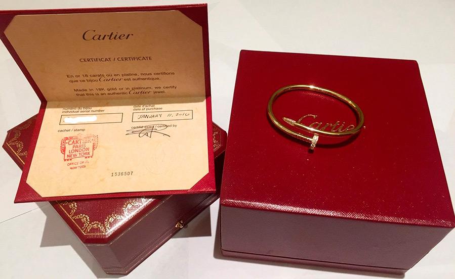 Шикарные золотые браслеты для влюбленных от Cartier