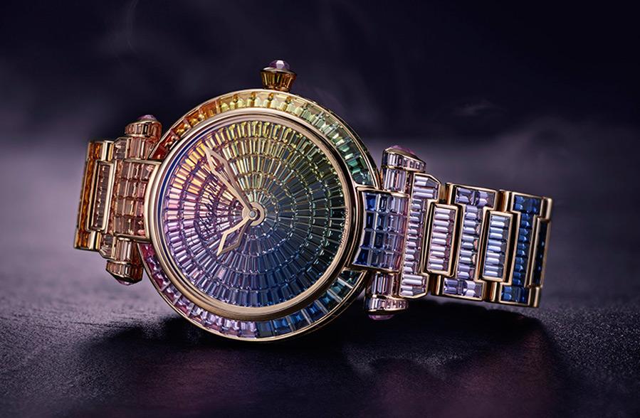 Роскошные радужные часы Chopard Imperiale