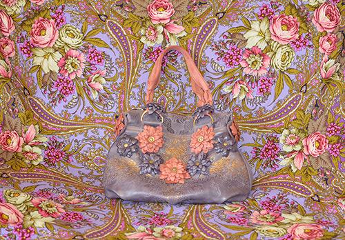 Сочетание цветочков в модных аксессуарах