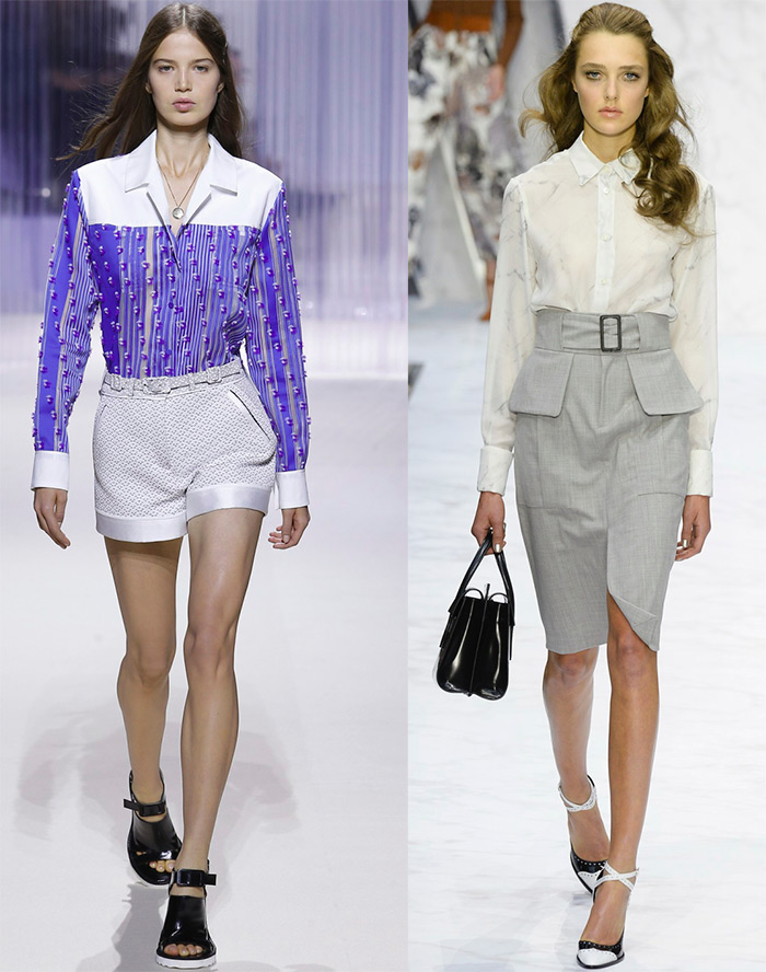 Блузки белые модные