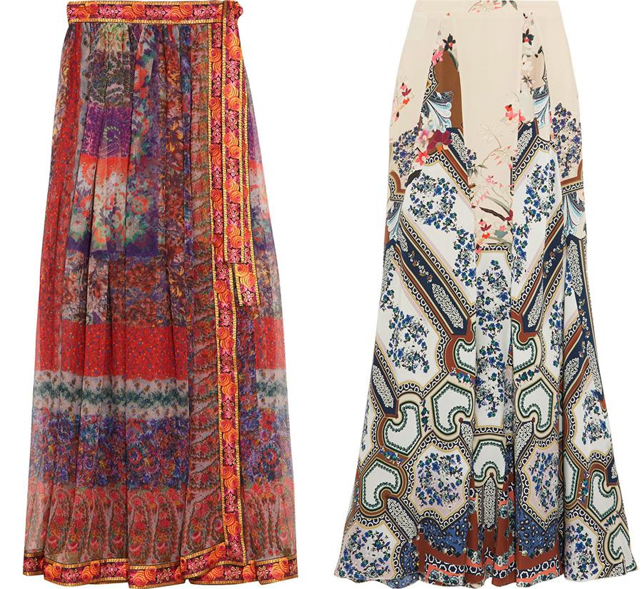Модные длинные юбки Etro