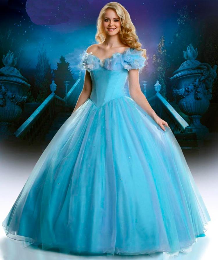 Голубое сказочное платье