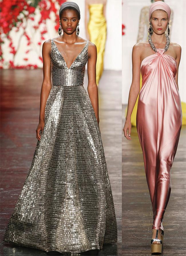 Блестящие платья Naeem Khan
