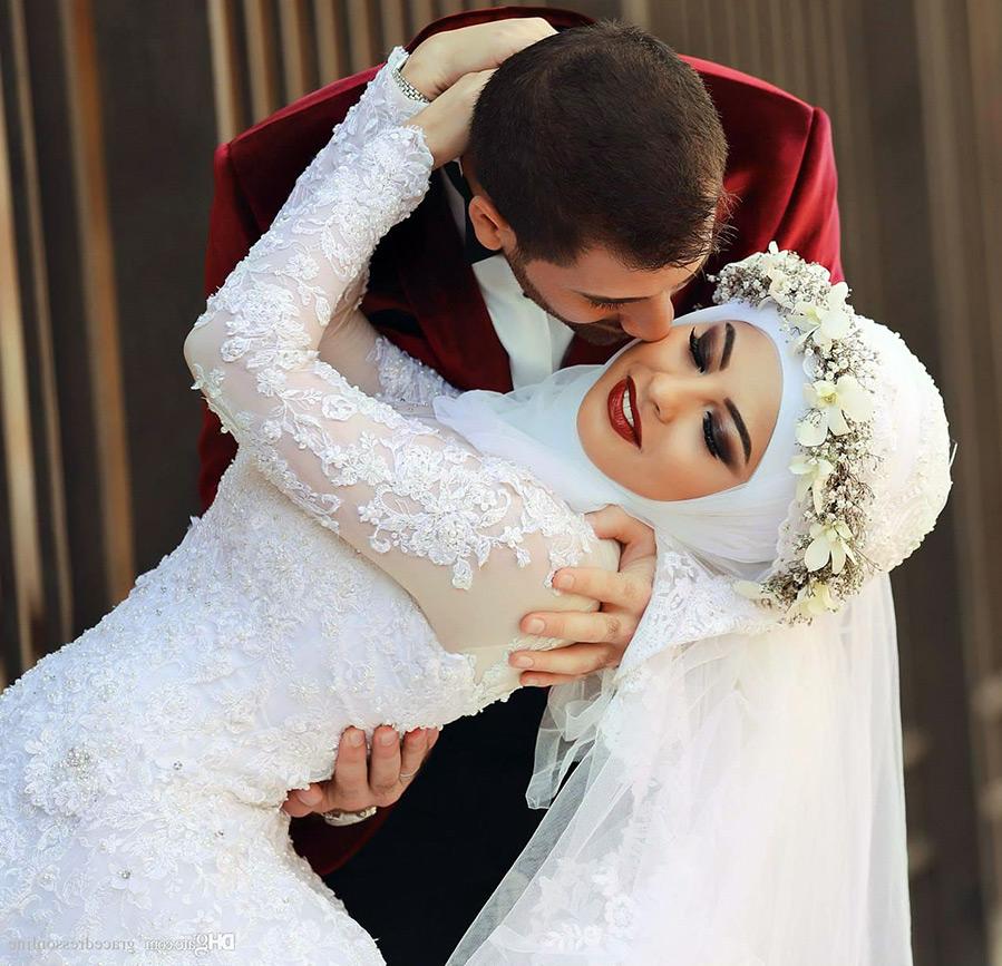 Cвадебные платья хиджабы для невесты