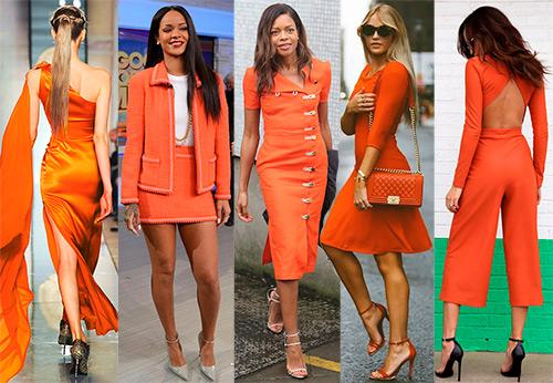 Яркие и согревающие вещи оранжевого цвета
