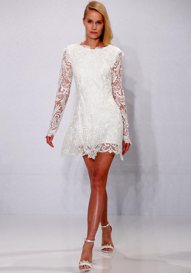 Женские короткие свадебные платья