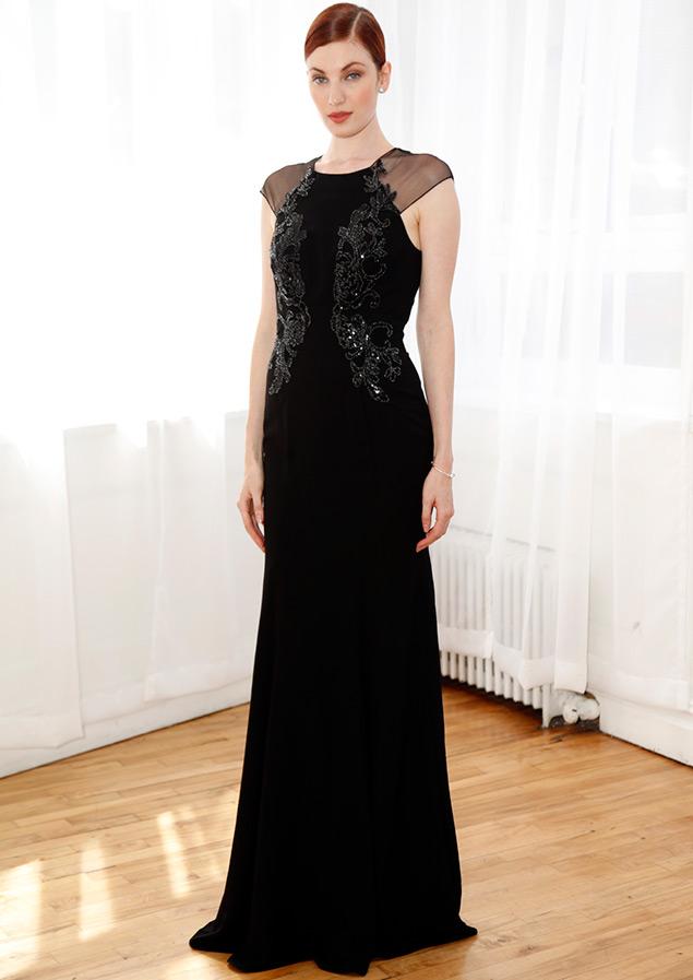 Черное свадебное платье Zac Posen