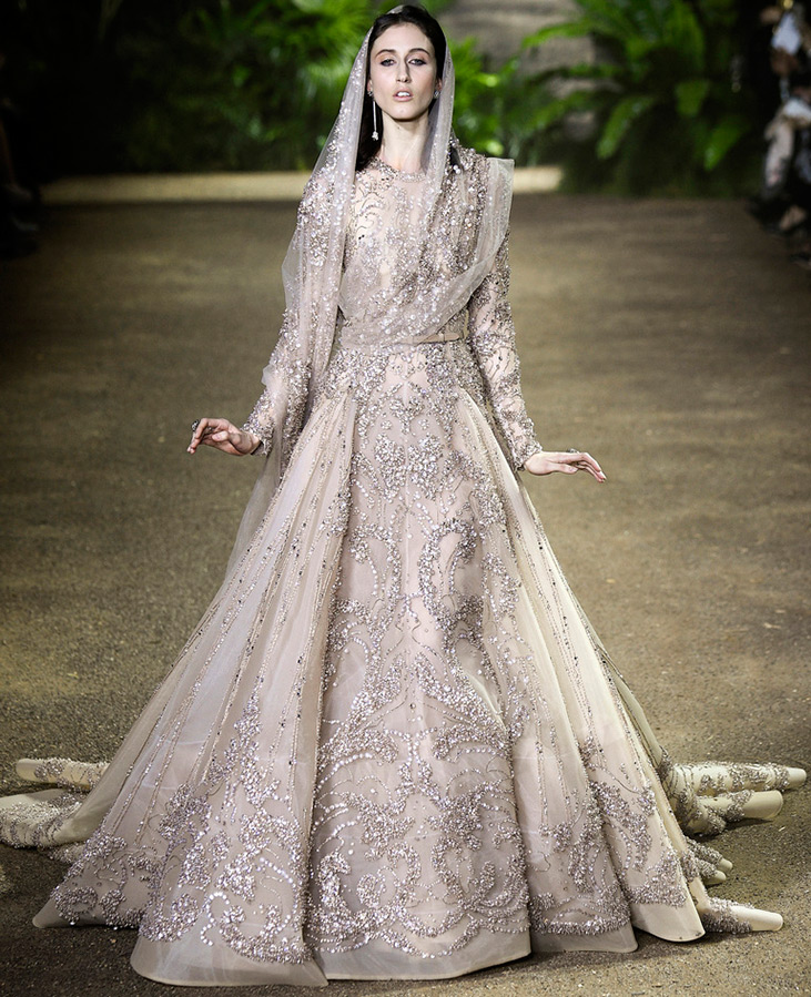 Elie Saab дорогое свадебное платье