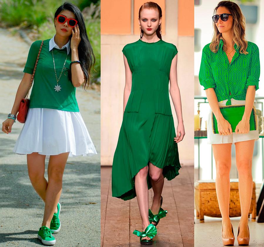 Зелёный цвет в одежде