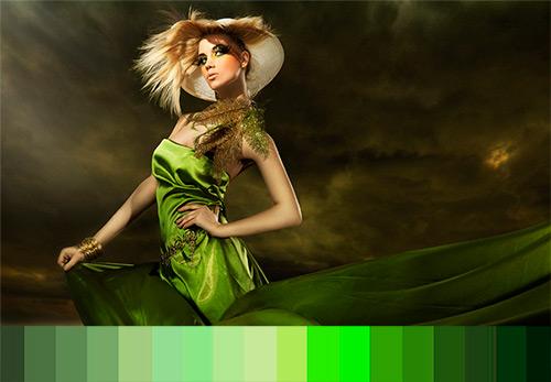 История оттенков зеленого цвета в моде и психологии