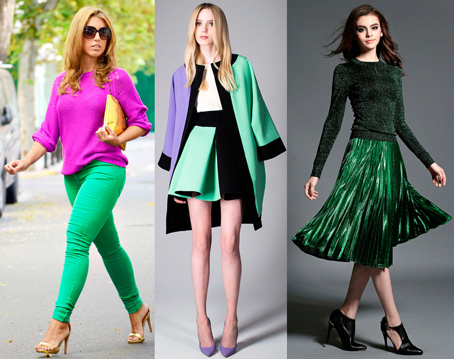 Тёмно-зелёный цвет сочетание