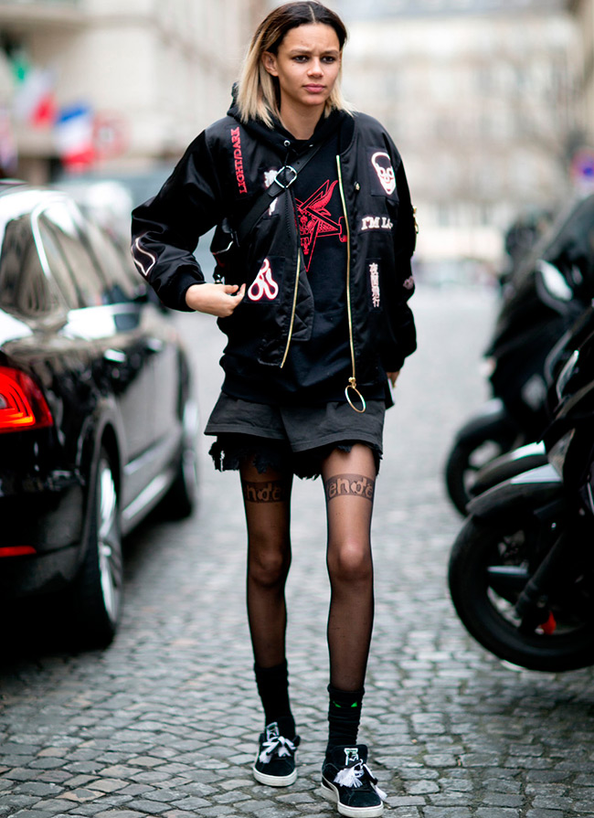 Уличный стиль одежды моделей и топ-моделей