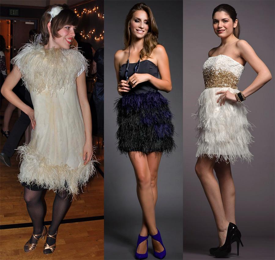 Платья с юбкой из перьев купить