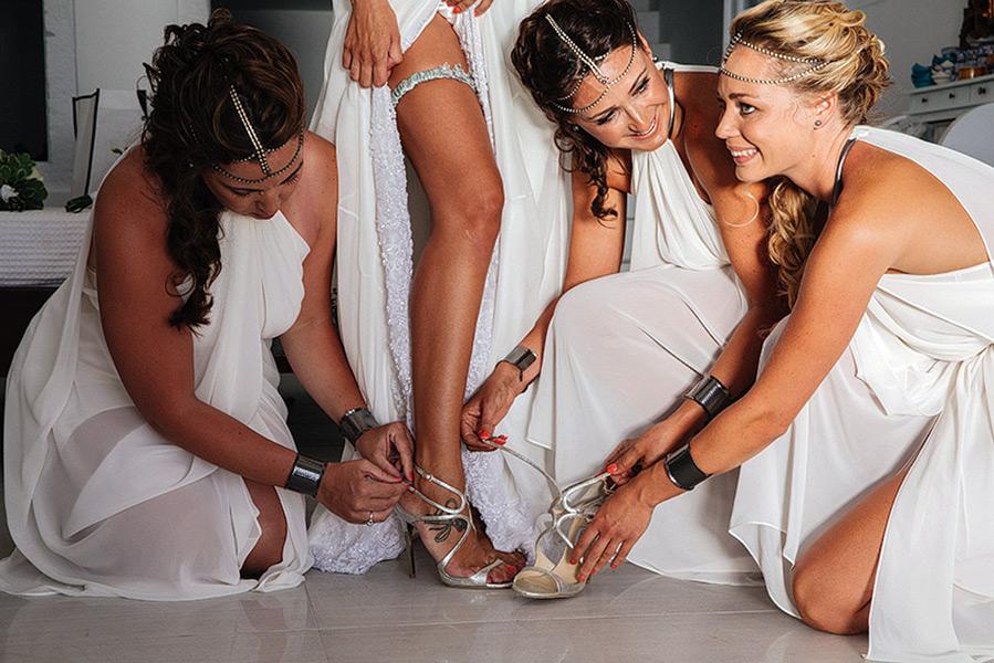 Обувь для свадьбы в греческом стиле