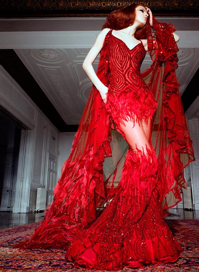 Красное платье для образа Батори