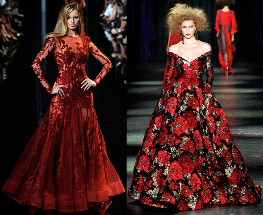 Красное и красно-черное платье