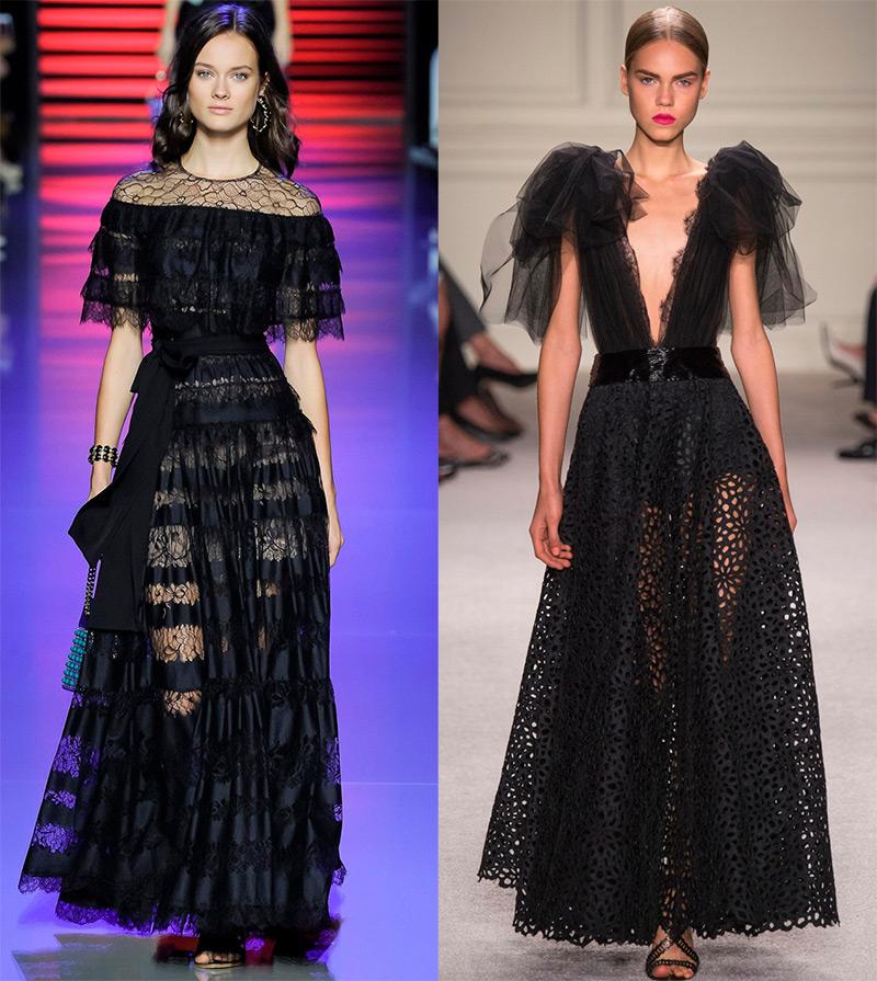 Вечерние черные платья