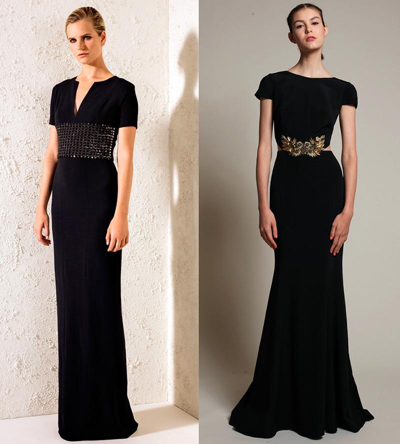 Длинные вечерние платья в пол черные