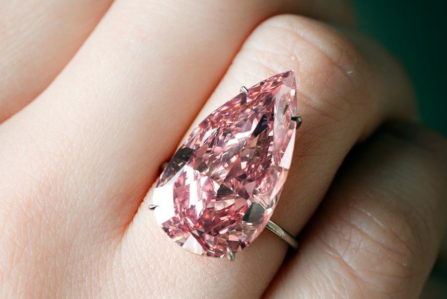 розовый бриллиант Unique Pink