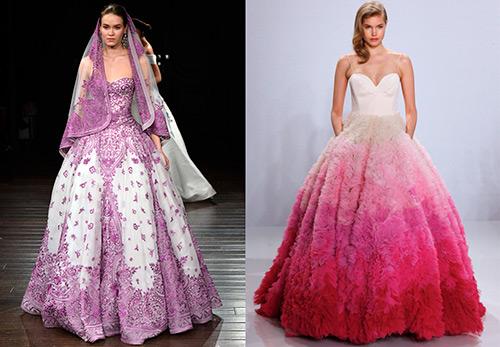 18 лучших разноцветных платьев на свадьбу 2016-2017