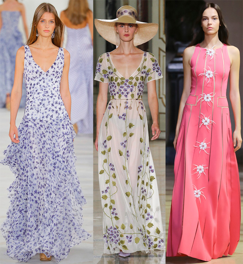 лучшие модели длинных летних платьев