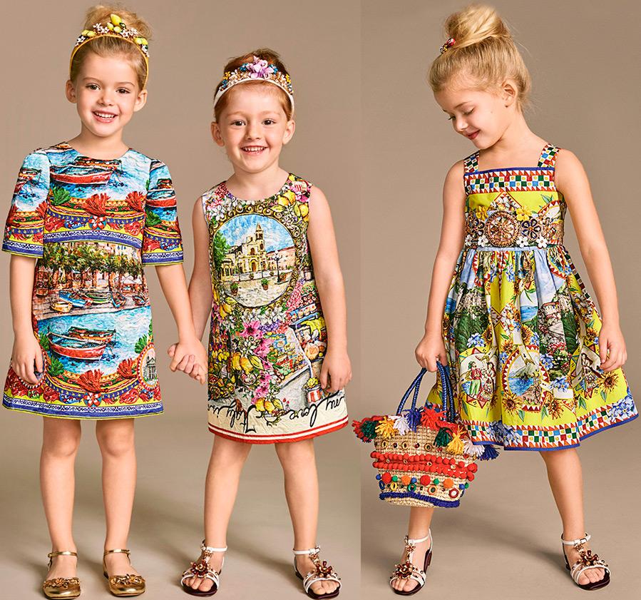 Дольче габбана платья детские