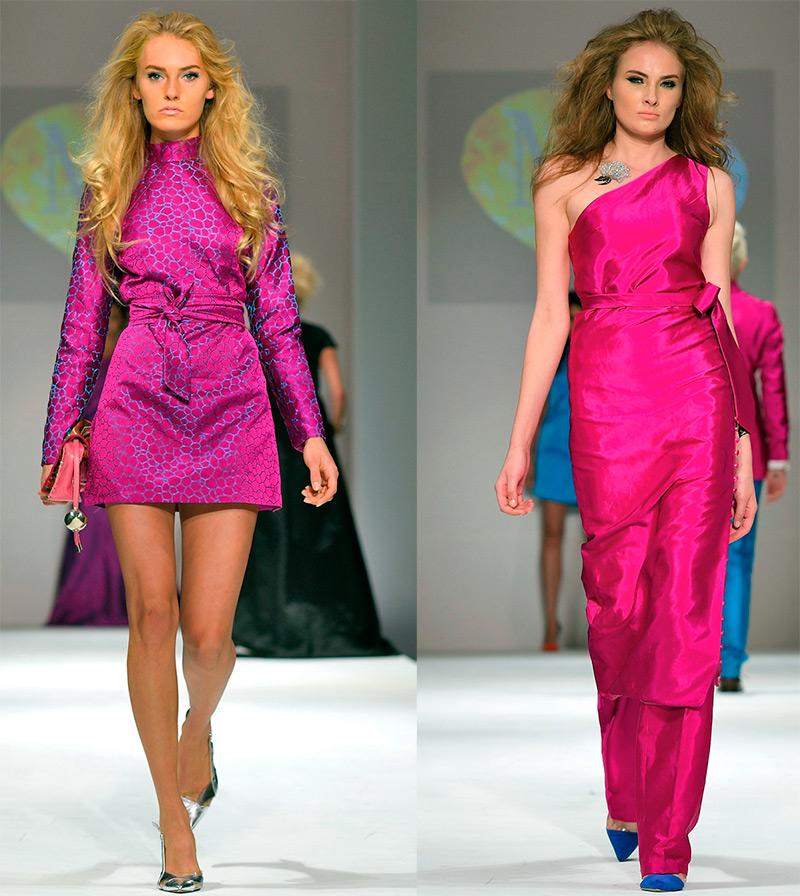 Платье цвета фуксии – фото лучших образов