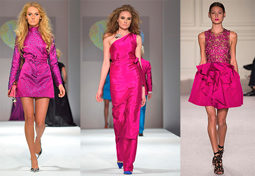 Как выбрать и с чем носить платье цвета фуксии