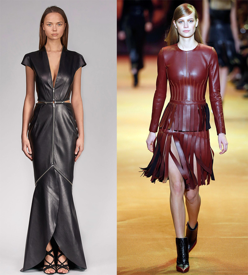 Модные блестящие платья осень-зима