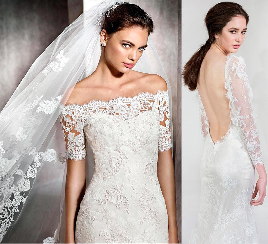 Свадебное платье из гипюра