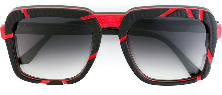 Солнцезащитные очки из рога быка и кожи питона