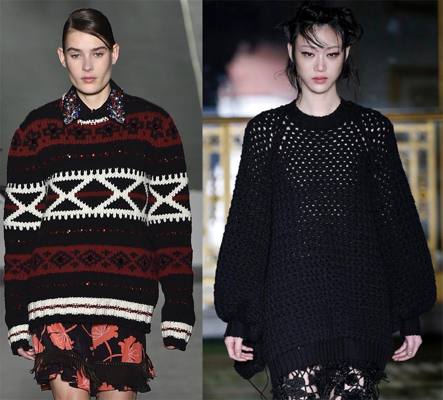 Модный женский свитер 2016-2017