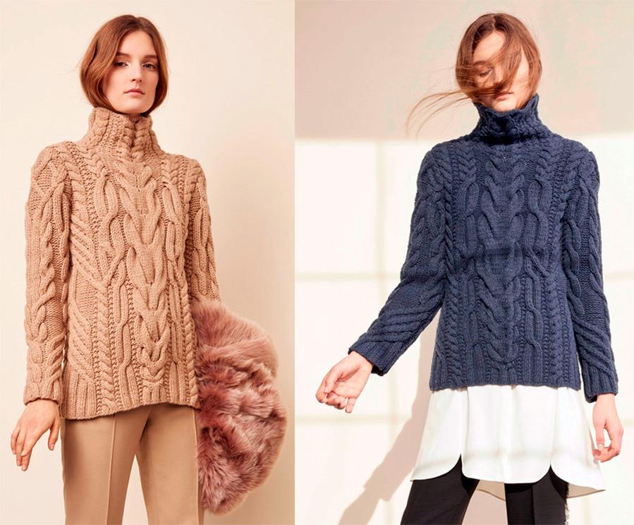 свитера женские вязаные 2016-2017 фото