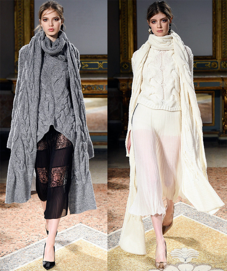 Модные вязанные свитера женские доставка