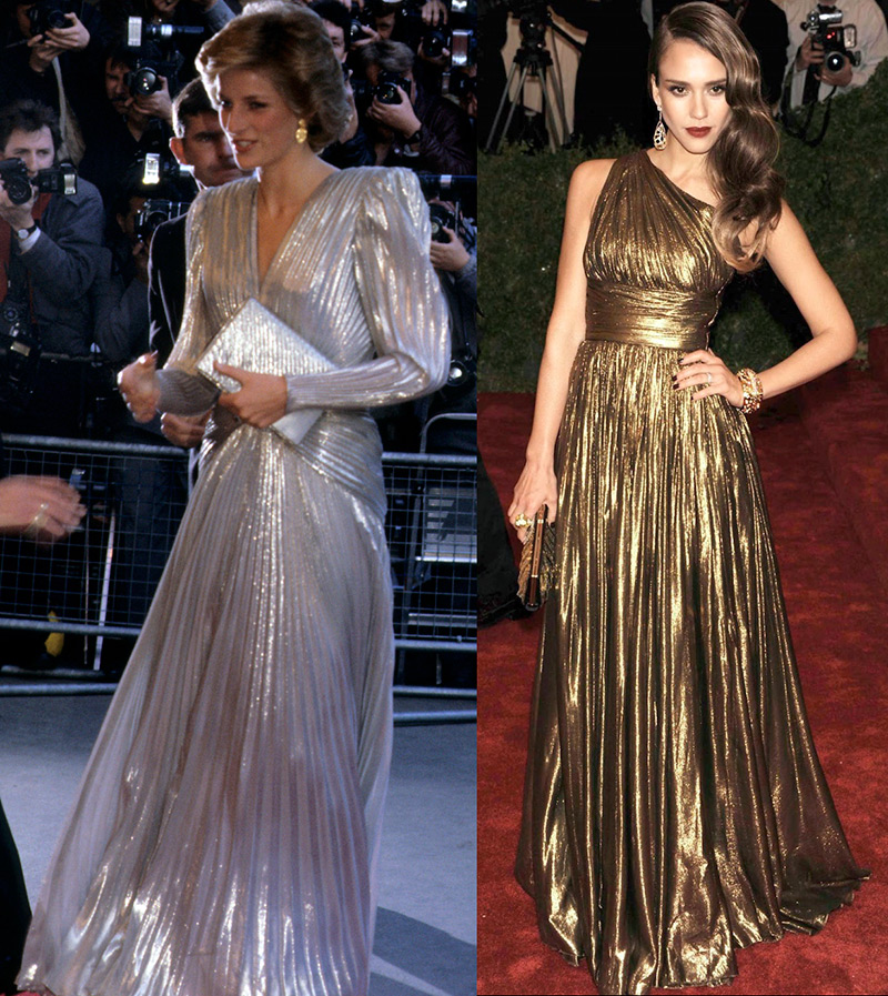 Серебряное и золотое платье ламе