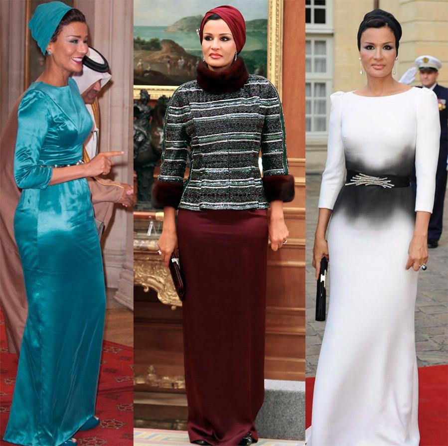 Шейха Моза платья