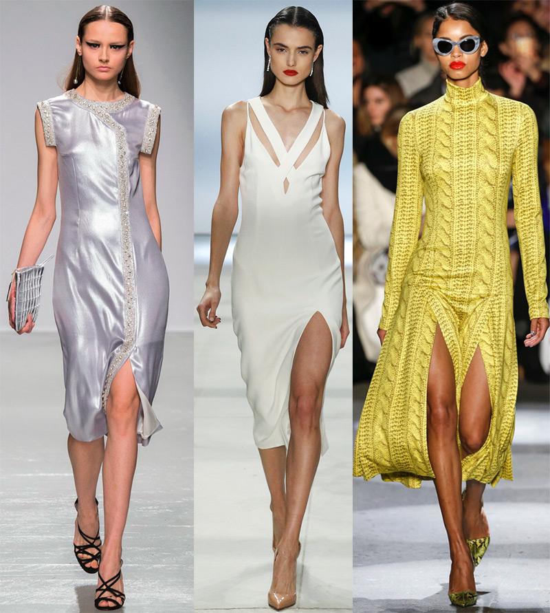 Платья с разрезами на ноге