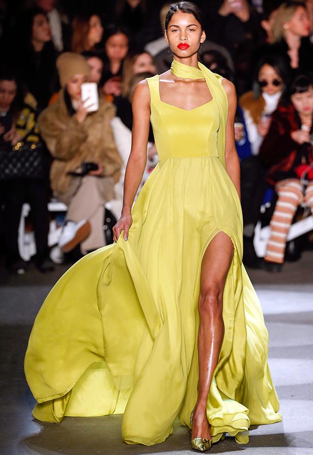 Платье с разрезом на ноге Christian Siriano