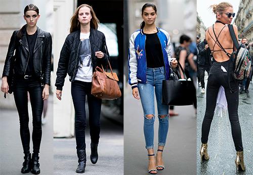Уличный стиль моделей с кутюрной недели моды 2016-2017
