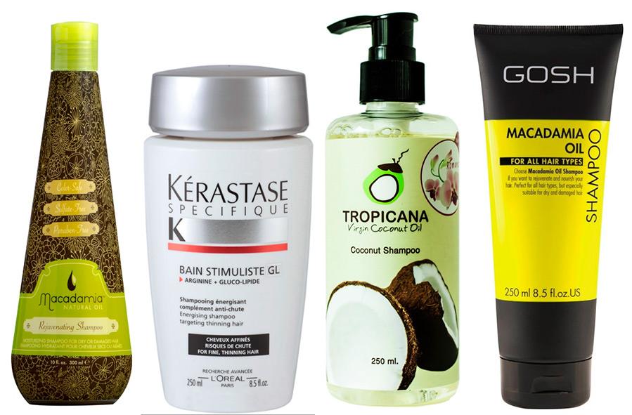 Укрепляющие и увлажняющее шампуни для волос