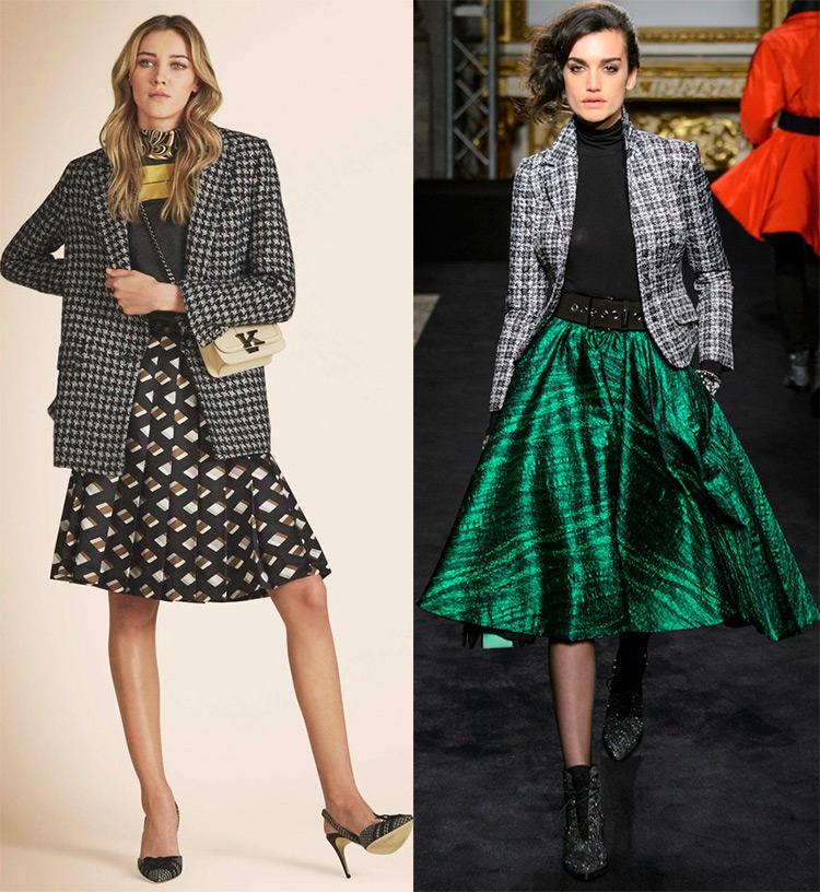 Модные юбки осень зима 2016 2017 в клетку